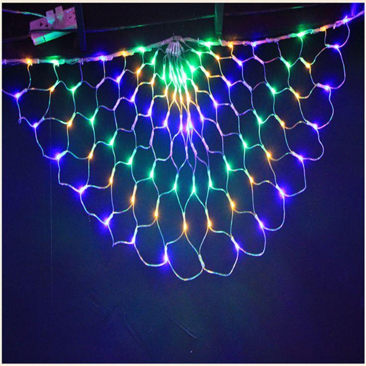 LED net light peacock wings