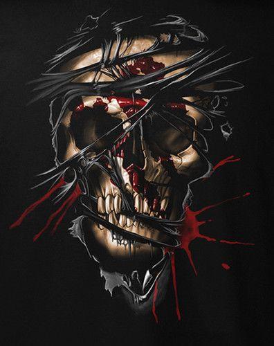 Fantasy Inside Skull T-Shirt 3XL Dragon Skull Mediaeval   eBay