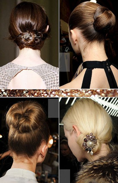 {hair inspiration : the always elegant chignon}Parties Hair, Holiday Parties, Wedding Hair, Holiday Hair, Elegant Updo, Buns Hair, Socks Buns, Hair Inspiration, The Holiday