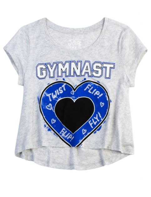 Gymnast Cropped Graphic Tee | Girls Graphic Tees Clothes | Shop Justice