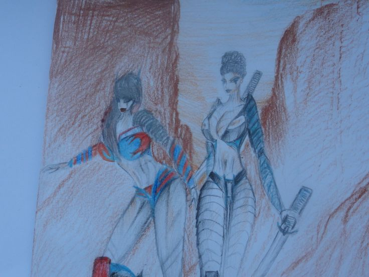 drawin made by me! In the picture are Me (on the right) and Kayla Prime (on the left )