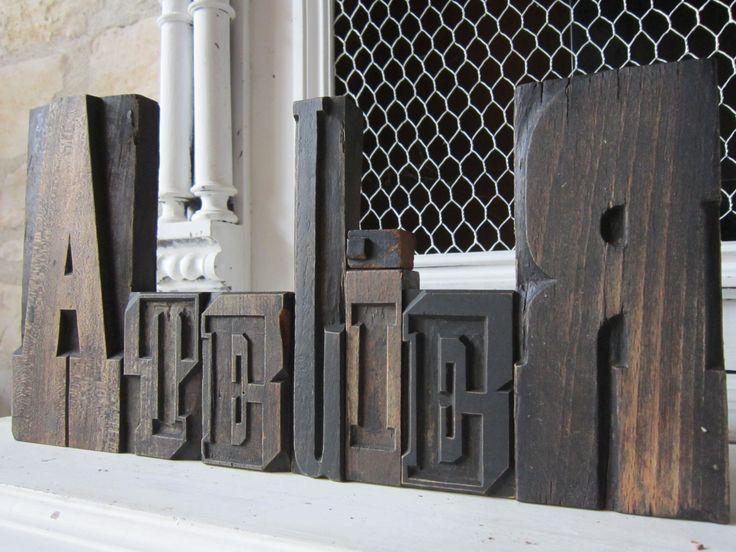 """Lettres d'imprimerie """"Atelier"""""""