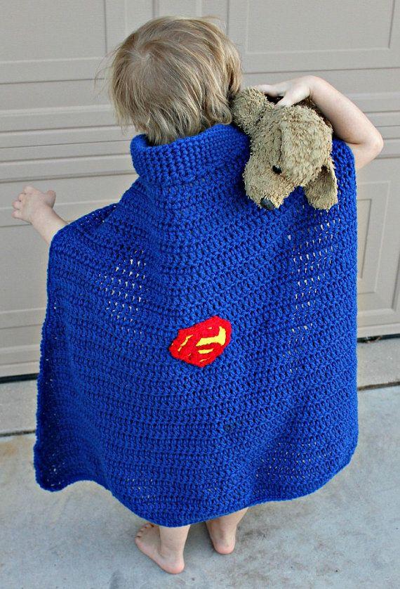 Free Crochet Pattern Baby Capelet : Super hero cape & hat PDF crochet patternINSTANT by ...