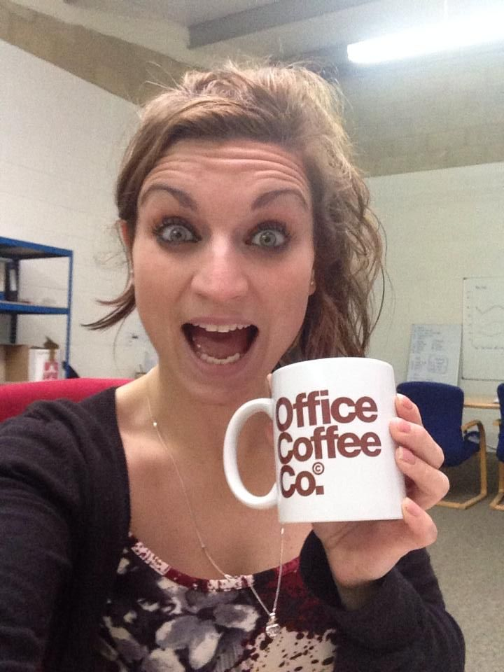 Selfie with our new 'office coffee' mugs!