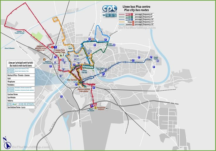 Pisa Bus Routes Map Maps Pinterest Bus Route Map Pisa And Italy - Pisa bus map
