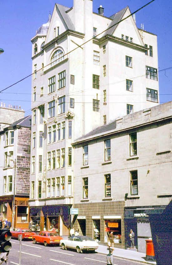 The lion's Chambers building on Hope Street (Glasgow City) is so easily overlooked these days. Here in all it's glory in 1975.