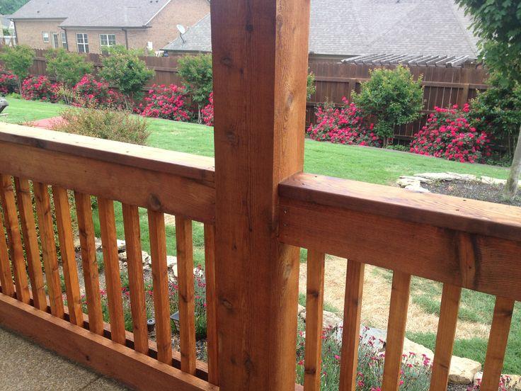 Cedar Railing | sun deck ideas | Pinterest