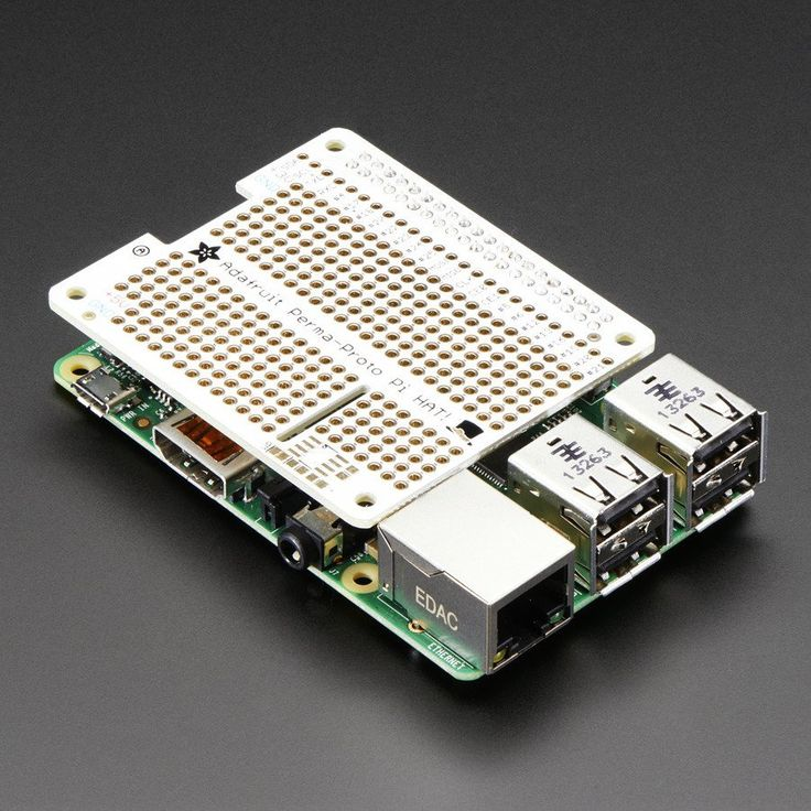 Adafruit Perma-Proto HAT for Pi Mini Kit - Design your own Pi HAT, attach custom circuitry and otherwise dress your Pi 3, 2, A+ or B+ with this jaunty prototyping HAT kit.