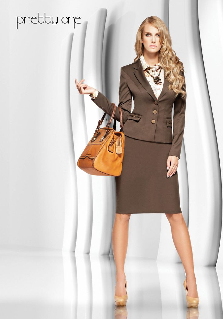 a fantastic brown suit a skirt suit is the best way to