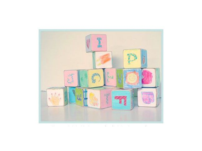 very baby needs a set of blocks, and getting your friends to help decorate them is a great way to bond and get creative during the baby shower. Via Handmade Adelaide Baby.  momtastic.com