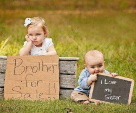 Brother for sale – When siblings just cannot get along. These two still do like each other, no matter what.