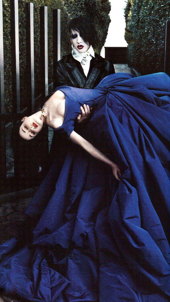 Marilyn Manson and Dita Von Teese.