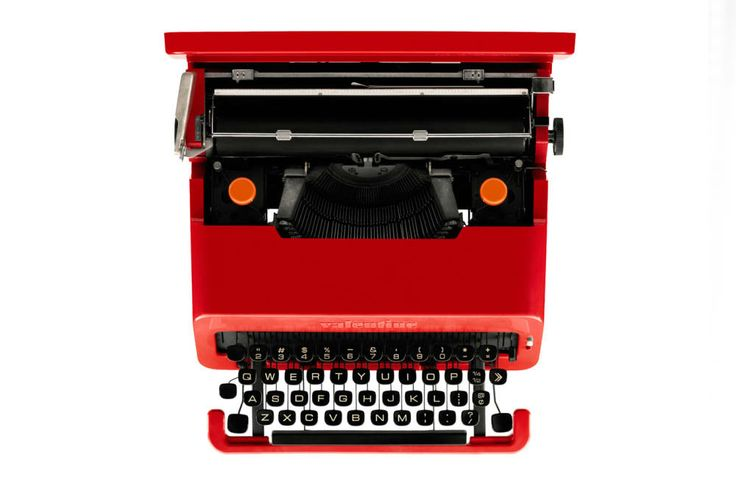 Sotheby's (Red) Charity Auction- 1969 Olivetti typewriter.