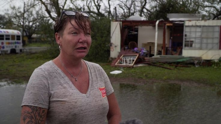 Rockport residents describe the moment the great storm hit their homes in Texas.