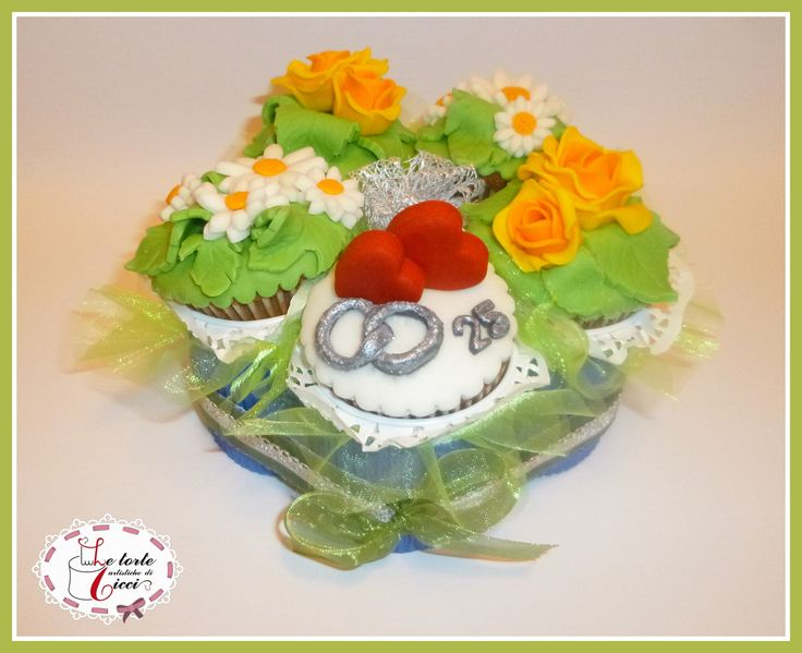 Cupcakes for 25th anniversary