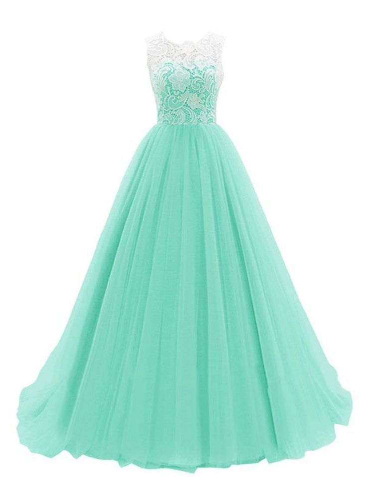 Women's Ruched Sleeveless Lace Long Prom Dresses Prom Gown