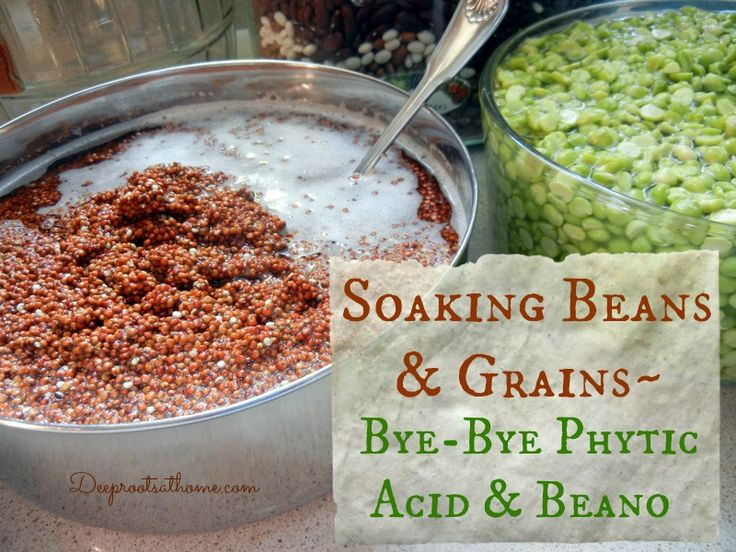 Need to read this!!!  Even have to soak quinoa!!  So interesting.    Soaking Beans and Grains ~ ByeBye Phytic Acid and Beano | Deep Roots at Home