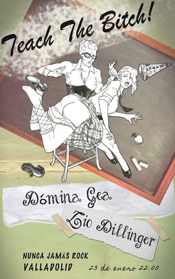 """Teach the Bitch"" (Jan15, Valladolid) Performance of: Dómina Gea & Zio Dillinger. Ilustration by: Chus Sarrión"