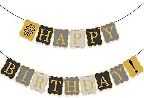 Amazon VINTAGE HAPPY BIRTHDAY BANNER DECORATIONS