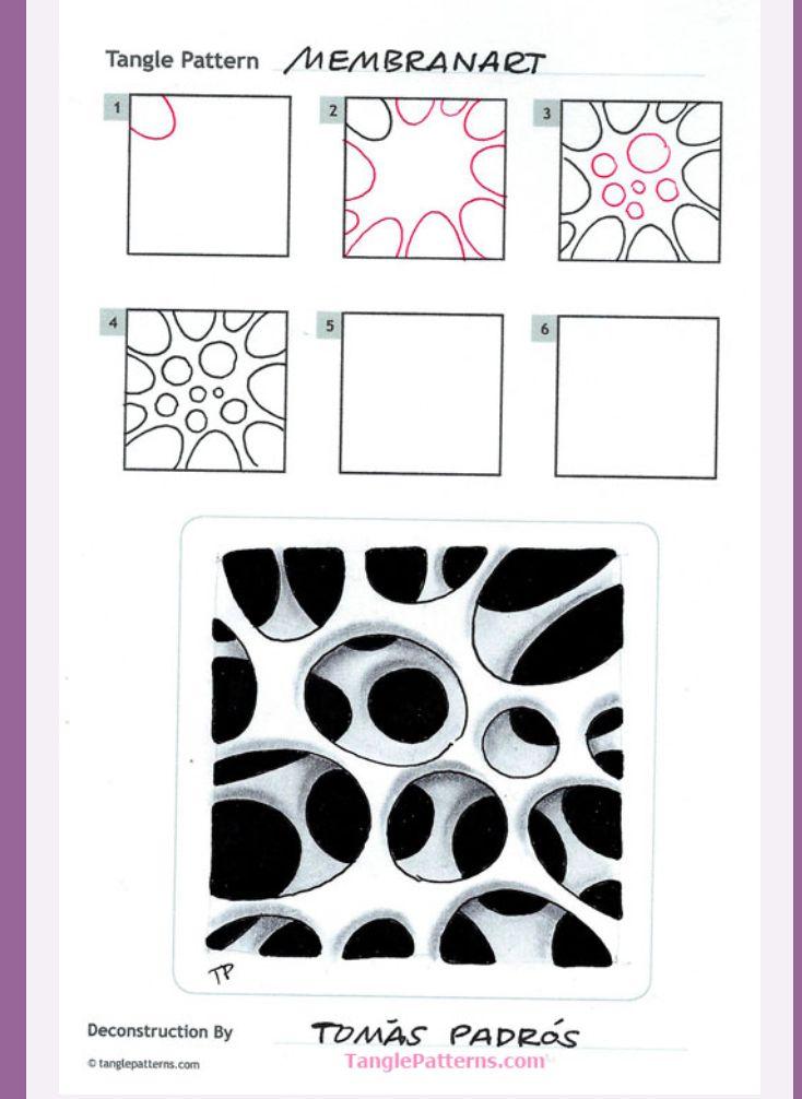 Membranart tangle | Zentangle