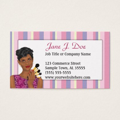 The 72 best beauty cosmetics spa skincare business cards images salon beauty makeup artist pink stripe african american business card colourmoves