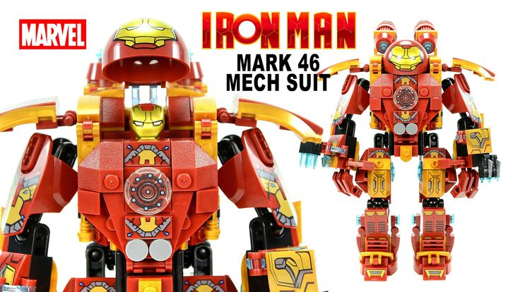 Awesome Iron Man Mark 46 Mechanical Suit LEGO KnockOff Building Set