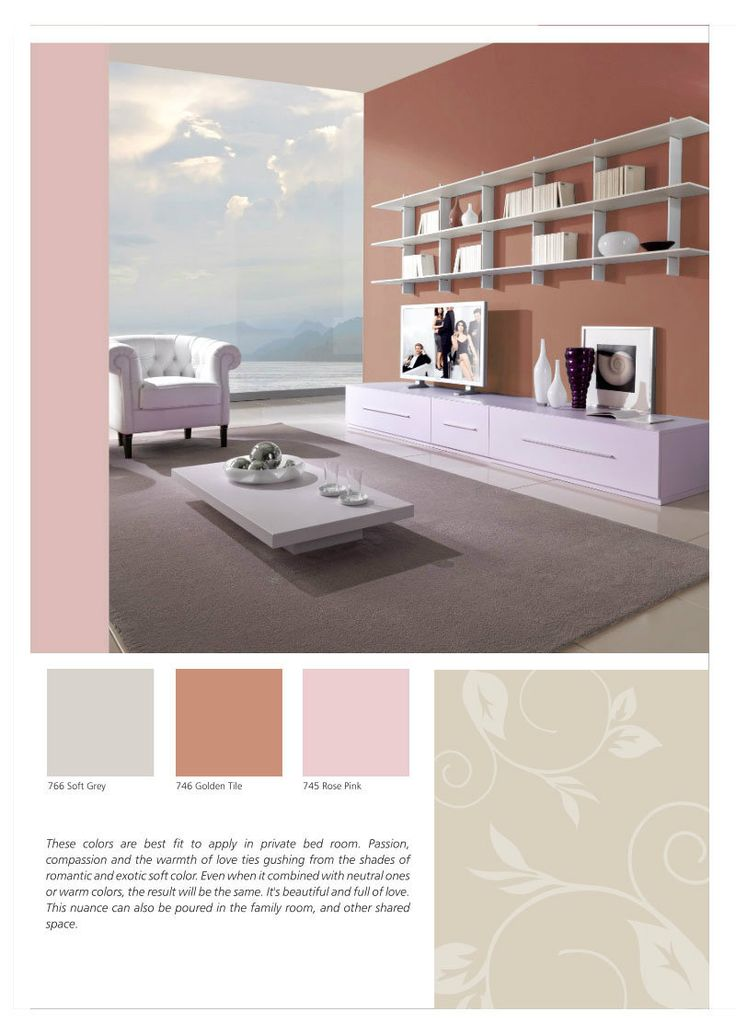 How sweet yet elegant when Golden Tile, Rose Pink of SANLEX 6000 wall paint, & Soft Grey are combined for a home living room interior design. Save this #HiyotoIdea! #homedesign #homedecor #housedesign #housedecor #interiordesign #livingroom #wallpaint