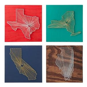 Might need this for my other home: Wall Art, Uncommon Good, States Art, Gifts Ideas, Heart Shape, Heart String, String Art, U.S. States, String States