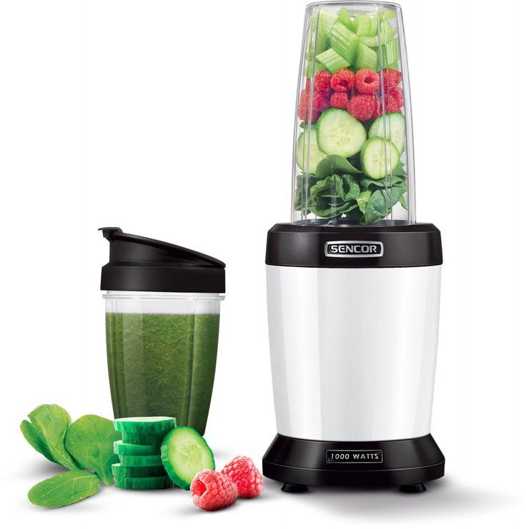 Sencor SNB 4300WH nutri mixér. Extrahuje těžko dosažitelné výživné látky obsažené v semínkách, obilovinách, ořeších, umožňuje rozsekání celého ovoce a zeleniny.