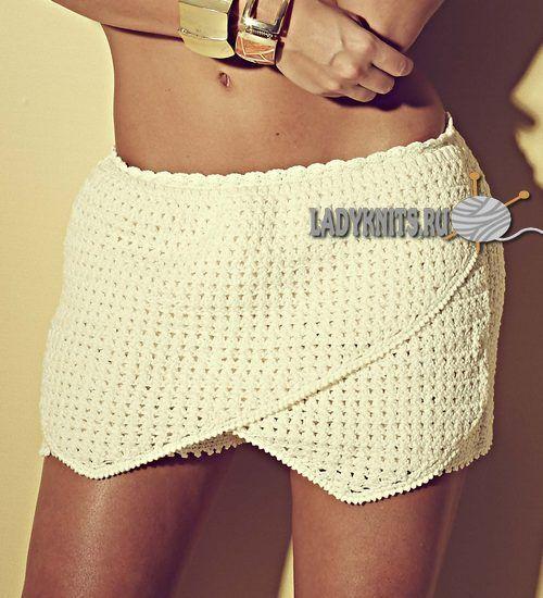 Вязаные крючком женские шорты - юбка