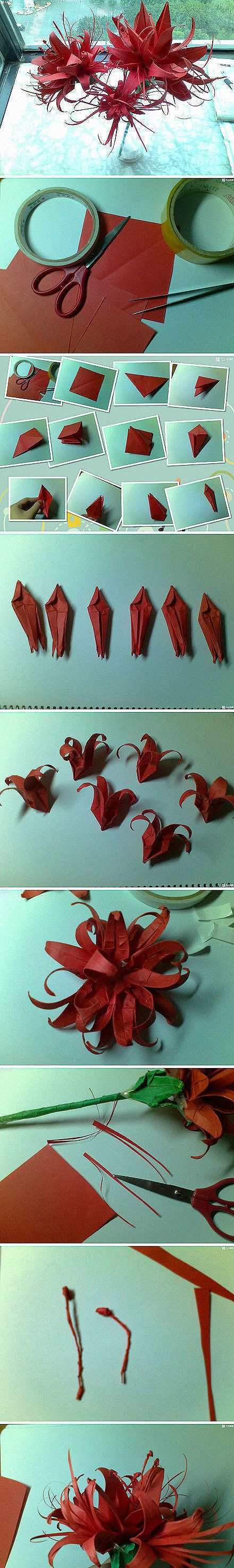 Origami DIY handmade paper art origami tutorial Bana, beautiful, right, moving hands to ~
