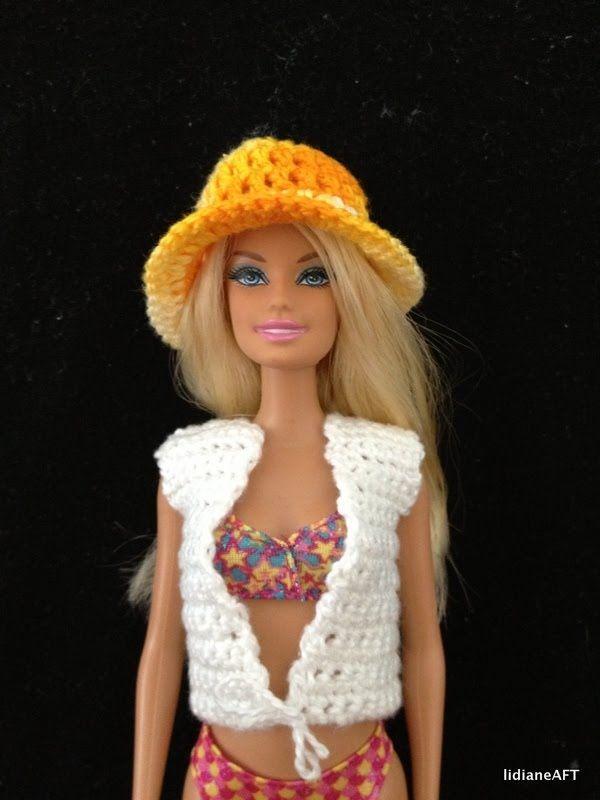 chapeu de croche para barbie - LiiArt