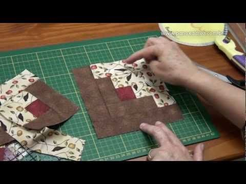 Log Cabin - faster method.  This is a cool way to do log cabin blocks; easy to understand even tho it's in Spanish.