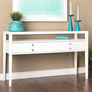 Aristo Gloss White Sofa Table | Overstock.com Shopping - The Best Deals on Coffee, Sofa & End Tables