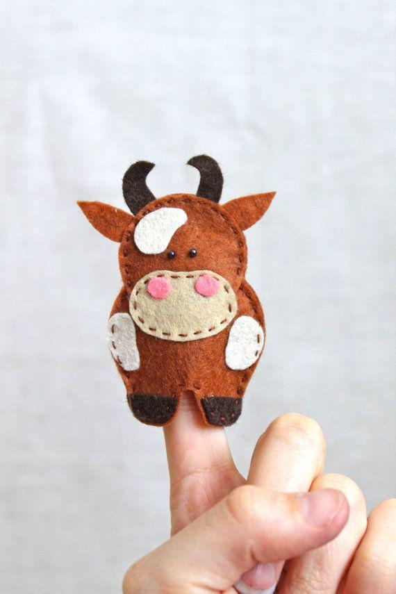 Felt finger puppets McDonalds farm pack of by MiracleInspiration