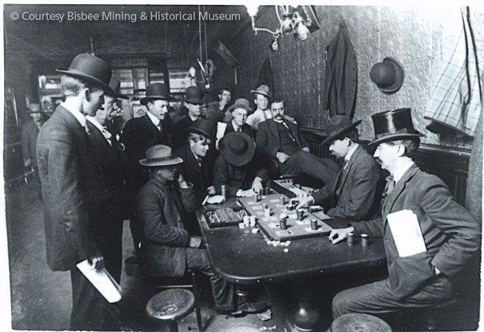 Gambling at the Oriental Saloon in Tombstone, AZ - note the  well-dressed gentlemen.