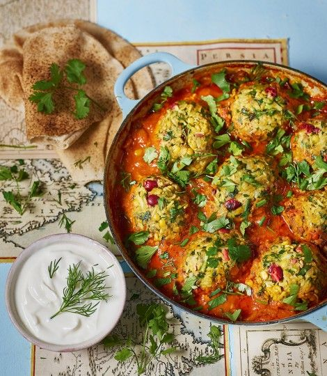 Sabrina Ghayour's persian lamb meatball recipe