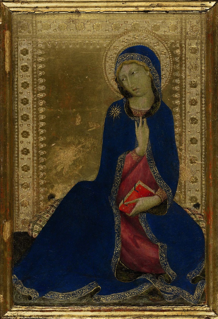 Simone Martini. The Virgin Annunciate, c. 1284 - 1344. Sold by Sotheby's, 26/1/2012.