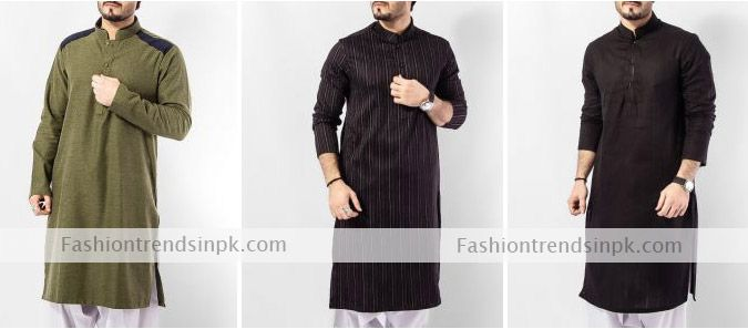 Men Kurta Design 2015 available in Fashion Boutiques. Pakistani Designer Men Kurtas with Embroidery Neckline in Affordable Prices for Boys