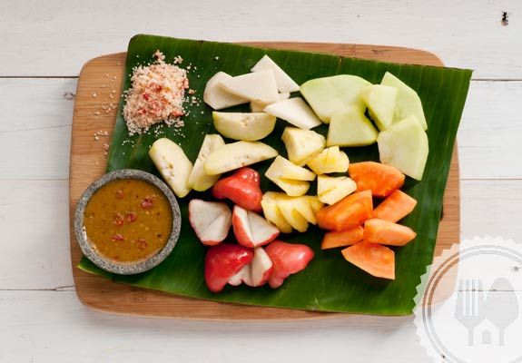 RUJAK BUAH. You can use other fruit for young variation Reviews such as guava, mango and apple.