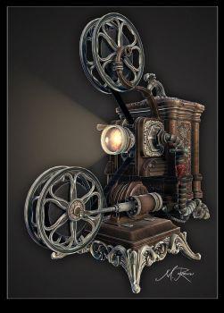 'Steampunk' Ampro Projector final01 by lost-artist89