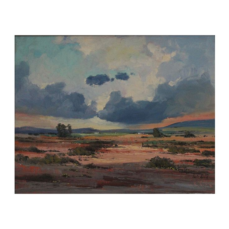 Louis Audie (1935 - 2015) - Oil of Karoo Louis Audie was an acclaimed South African artist, known for his realistic-impressionistic landscapes and his paintings are sought after. He had numerous exhibitions in South Africa, https://www.imagineart.co.za/shop/audie_louis_karoo/