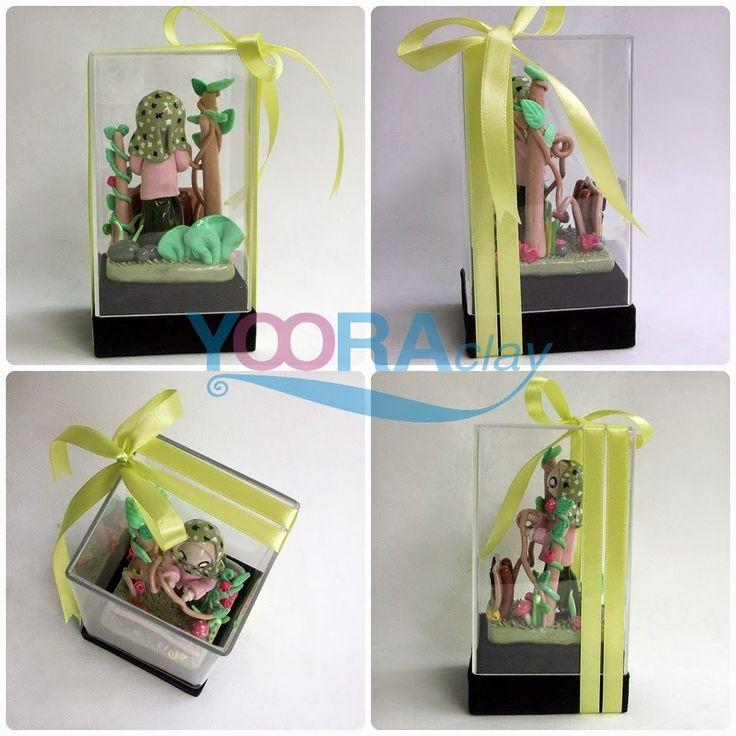 Clay Figure dalam Box Acrylic 'SA'
