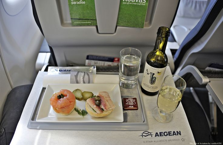 AEGEAN BUSINESS CLASS, In Flight Service Domestic Light Meal