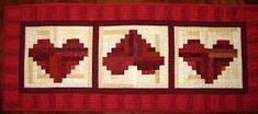 Make a Log Cabin Heart pillow, table runner or wall hanging for Valentine's Day! This pattern is so cute and easy and you can use your scr...