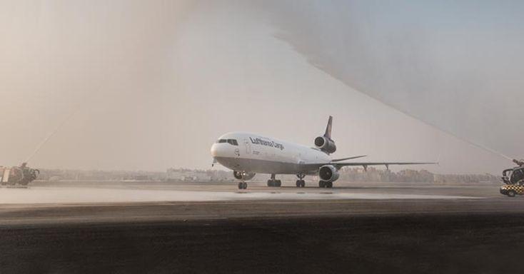 Lufthansa Cargo freighter named 'Marhaba, Egypt'