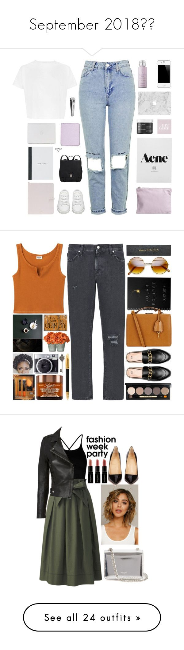 """""""September 2018❣️"""" by magscerasuolo ❤ liked on Polyvore featuring Jil Sander, ChloBo, Drybar, BAGGU, Topshop, shu uemura, Living Proof, Sephora Collection, Yves Saint Laurent and Proenza Schouler"""