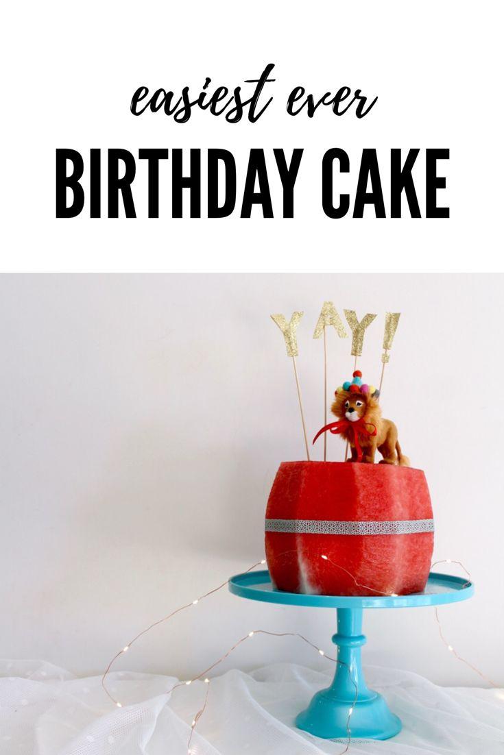 Watermelon birthday cake   kids party ideas, perfect for a summer birthday party. www.fourcheekymonkeys.com via @4cheekymonkeys