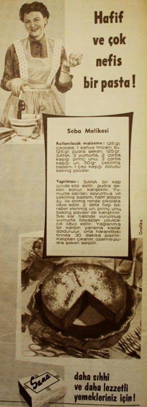 OĞUZ TOPOĞLU : sana margarin saba melikesi pastası tarifi 1959 no...