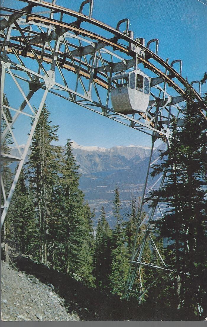 Postcard Banff Sulphur Mountain Gondola Lift Alberta Canada Unused Pmark 1966 | eBay